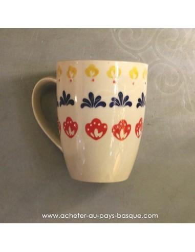 Mug blanc peints main vaisselles - déco Pas Sage et des rêves Biarritz - boutique décoration