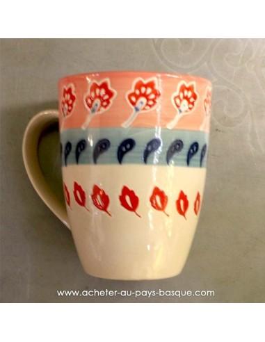 Mug rose peints main vaisselles - déco Pas Sage et des rêves Biarritz - boutique décoration