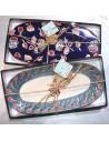 Deux coloris au choix pour ces plats peints à la main : marine et turquoise - boutique décoration - Pas Sage Biarritz