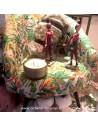 Fauteuil club vintage imprimé jungle fleuri jacquard - Pas Sage et des rêves Biarritz - boutique décoration