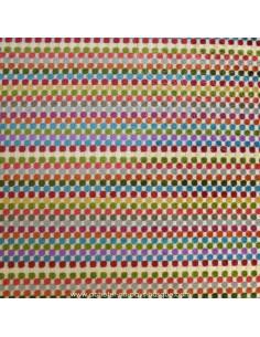 Tissu Ameublement  jacquard Tutti-Frutti multicolore: coussins, double-rideaux restauration de fauteuil - Docks Biarritz