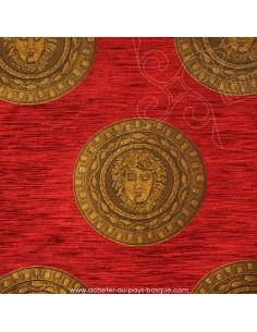 Tissu jacquard Versace Les Méduses - Medusa : coussins, double-rideaux restauration de fauteuil - Docks Biarritz