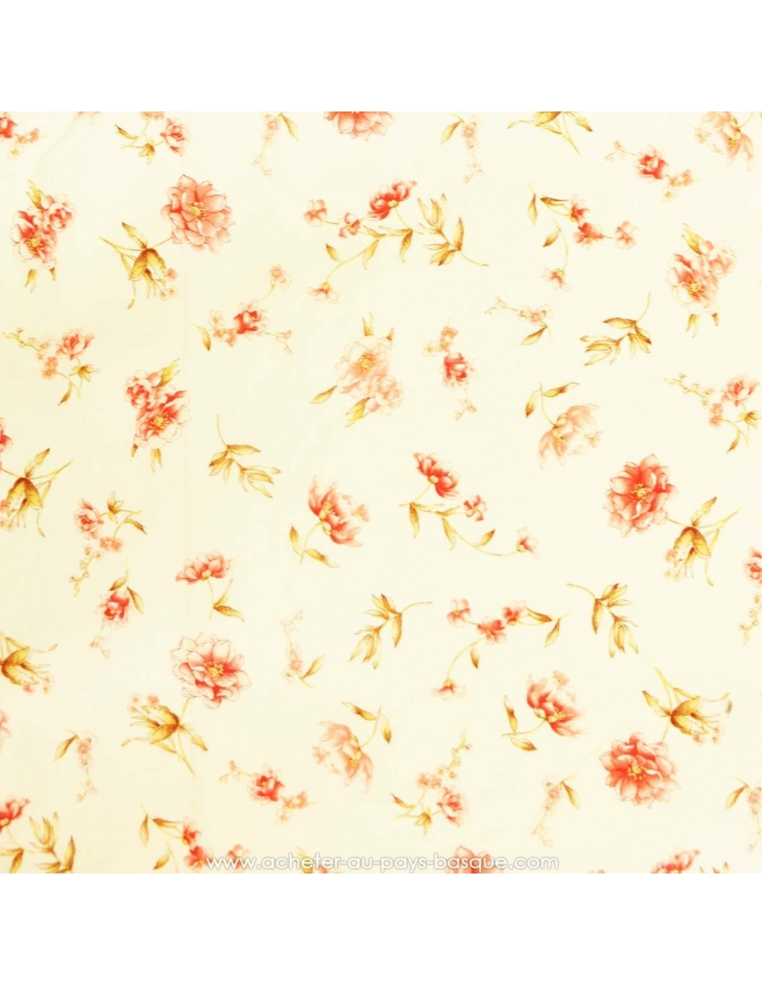 140cm de large Tissu de coton pour l/'été prix au mètre fleurs 4 couleurs