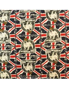 Jersey de viscose Union Jack imprimé bouledogue drapeau anglais vente en ligne Tissu habillement - vetement couturiere en vente