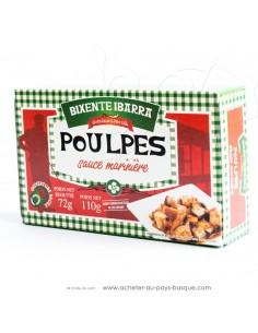 Poulpe marinière Bixente Ibarra - Tapas aperitif espagnol conserves basques - produits espagnols - épicerie espagnole