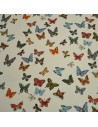 Vol de papillons Ecru - Collection Nathalie Lete - Tissus Ameublement - Tissus des Docks de la Negresse - Biarritz
