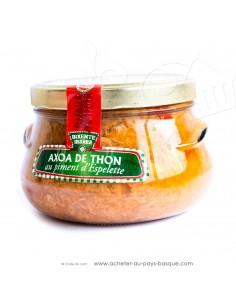 Axoa de thon blanc au piment d'Espelette - Bixente Ibarra - epicerie fine - plat cuisiné de la mer basque