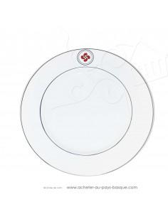 Assiette basque chic - vaisselle assiette plate lauburu -  livraison courses domicile