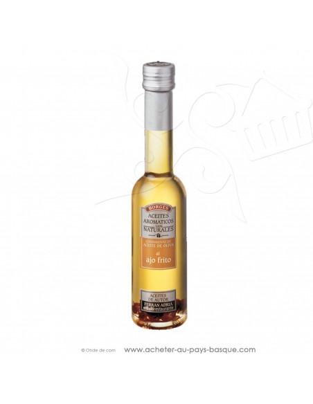 Huile d'olive aromatisée avec de l'ail frit Borges 200 ml - espagnole cuisine - Ferran Adria - livraison bayonne anglet biarritz