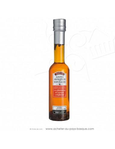 Huile d'olive aux épices et piments de Cayenne Borges 200 ml - espagnole cuisine - Ferran Adria