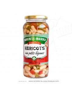Haricots aux petits légumes  - Bixente Ibarra - epicerie fine - conserves de légumes basques