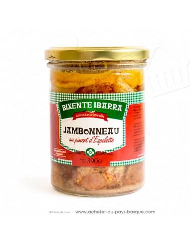 Jambonneau au piment d'Espelette - Plats préparés Basques - Bixente Ibarra - epicerie fine - conserves de viandes