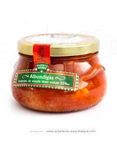 Albondigas boulettes de veau à la tomates - Plats préparés Basques - Bixente Ibarra - epicerie fine - conserves de viandes