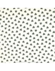 Jersey imprimé petits poulpes / pieuvres  - Tissu habillement vente en ligne - vetement couturiere - Dock Biarritz