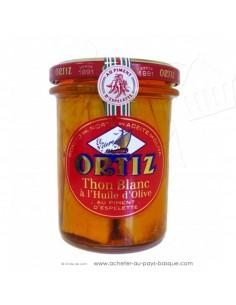 Thon blanc germon Bonite à l'huile d'olive Ortiz en bocal - espagnole cuisine conserve – spécialité basque