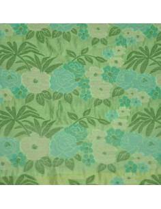 Organza vert prairie fleurs ungaro - Tissus Habillement - Tissus des Docks de la Negresse - Biarritz