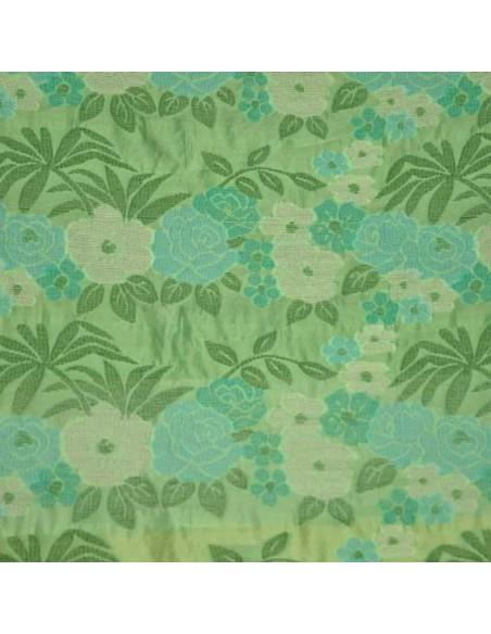 Organza vert prairie fleurs Ungaro
