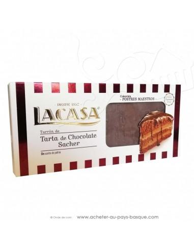 Turron façon tarte chocolat sacher - nougat Lacasa - epicerie confiserie espagnole - produit espagnol - noel