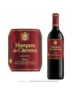 Vin rouge rioja Marquès de Càceres Crianza 2015 - vin basque espagnol - produit epicerie espagnole - livraison course à domicile