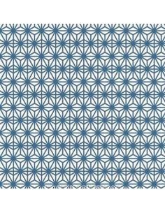 Soleil d'Orient tissu fond bleu thevenon - Ameublement recouvrement  - Tissus des Docks de la Negresse Biarritz
