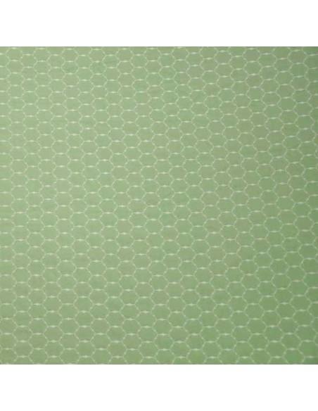 Loja jacquard vert amande - Tissus Habillement - Tissus des Docks de la Negresse - Biarritz