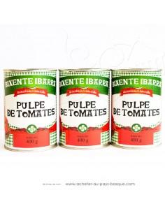 Pulpes de Tomates lot de 3 boîtes - conserve Bixente Ibarra