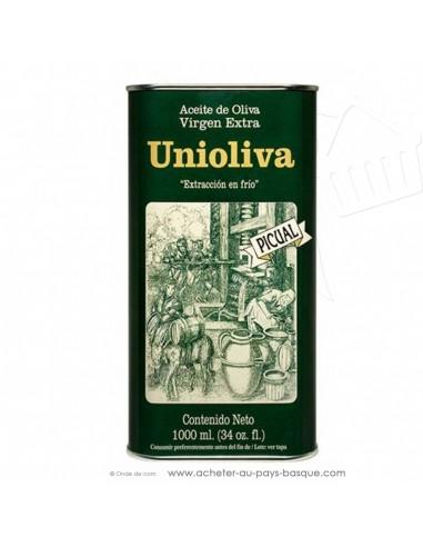 Huile d'olive espagnole Unioliva Vierge Extra  picual 5 Litres - cuisine conserve basque - produits espagnols