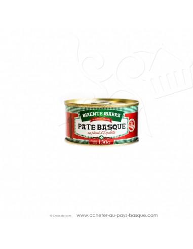 Pâté basque au piment d'Espelette 130g - conserves Bixente Ibarra - épicerie du pays basque