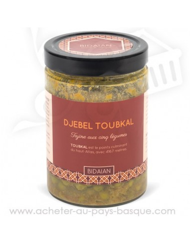Le tajine Djebel Toubkal Conserve orientale artisanale des cinq légumes - recette traditionnelle cuisinée produits frais Bidaian