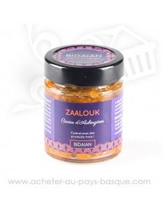 Zaalouk ou caviar d'aubergines - bidaian bayonne - plat cuisiné oriental - produits marocain - épicerie saveurs du monde