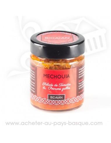 Méchouia :  Salade tomates poivrons grillés bidaian  plat cuisiné oriental - produits marocain - épicerie saveurs du monde