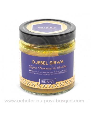Le tajine pruneaux carottes Sirwa : Conserve orientale artisanale sucrée salée recette traditionnelle  produits frais Bidaian