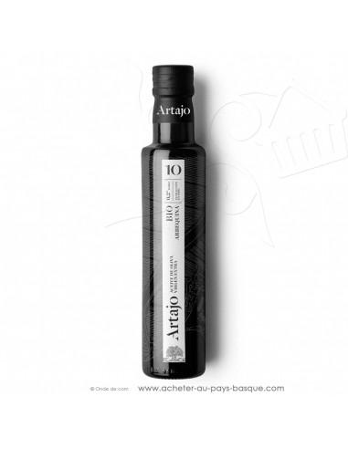 Huile d'olive bio espagnole 0.25L vierge extra Artajo 10 Arbequina - conserve espagnole cuisine - épicerie fine - condiment