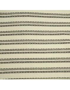Ottoman crème noir Ungaro - Tissus Habillement - Tissus des Docks de la Negresse - Biarritz