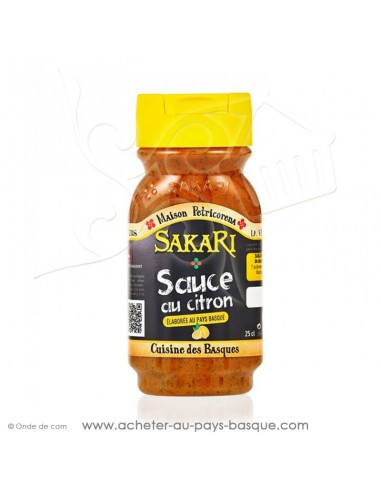 sauce basque  sans gluten - sauce sakari citron - epicerie basque - conserve recette traditionnelle basque petricorena
