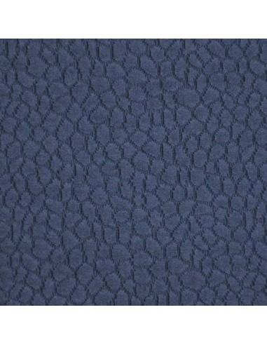 Piqué de coton relief forme uni Bleu - Tissus Habillement - Tissus des Docks de la Negresse - Biarritz