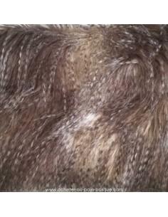 Tissu en fausse fourrure beige clair Habillement - Biarritz