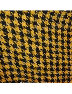 Laine moutarde et noir Tissu habillement motifs  pieds de coq  - vente en ligne - vetement couturiere - Dock Biarritz