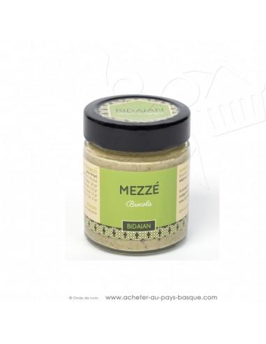 Apéritif Mézze brocolis - bidaian bayonne - plat cuisiné oriental - produits marocains - épicerie saveurs du monde