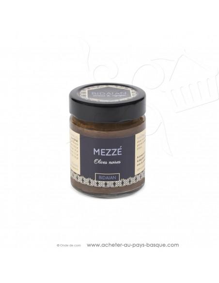 Apéritif Mézze olive noire - bidaian bayonne - plat cuisiné oriental - produits marocains - épicerie saveurs du monde