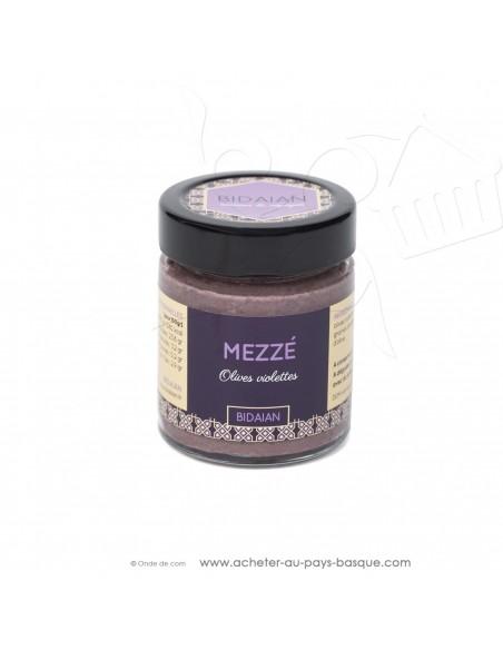 Apéritif Mézze olive violette -bidaian bayonne - plat cuisiné oriental - produits marocains - épicerie saveurs du monde
