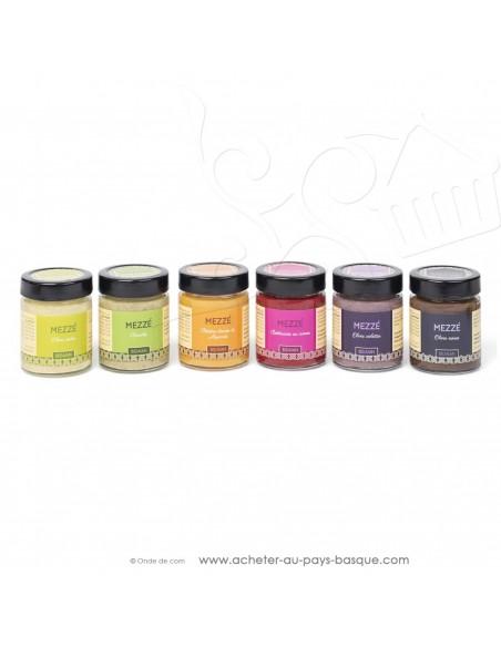 Assortiments Mézze olive violette - bidaian bayonne - plat cuisiné oriental - produits marocains - épicerie saveurs du monde