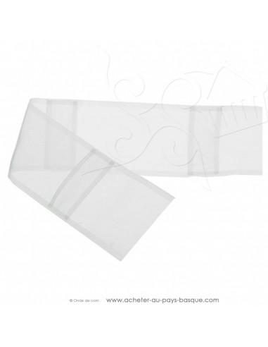 Ruflette à passants cachés 11cm - Tissus Ameublement de bonne qualité rideaux vendu au mètre - Haut de gamme - mercerie biarritz