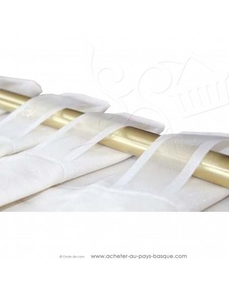 Ruflette à passants cachés hauteur : 11cm - Tissus Ameublement rideaux vendu au mètre - Haut de gamme - mercerie dock biarritz