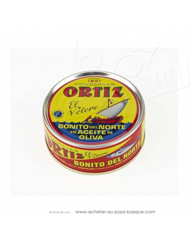 Bonite Ortiz à l'huile d'olive 158g - espagnole cuisine conserve basque - livraison course à domicile bayonne biarritz anglet