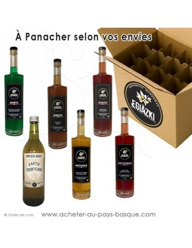 Panaché de liqueurs et alcools basques Egiazki - Composez  choisissez vos favoris obtenez des remises sur la quantité