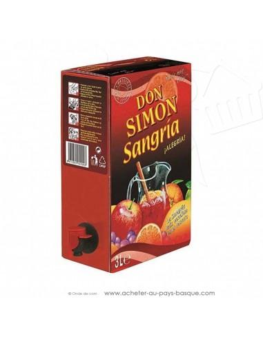 Sangria rouge Don Simon 3L - apéritif basque espagnol - produit epicerie espagnole - livraison course à domicile