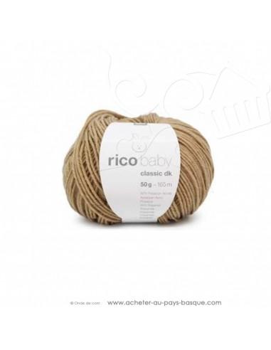 Pelote laine à tricoter RICO BABY CLASSIC DK beige foncé 053 - Rico Design - fil layette bébé - laine biarritz
