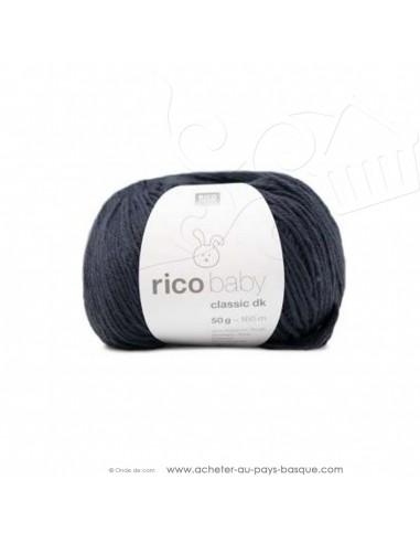 Pelote laine à tricoter RICO BABY CLASSIC DK bleu nuit 061 - Rico Design - fil layette bébé - laine biarritz
