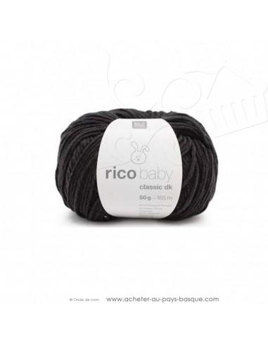 Pelote laine à tricoter RICO BABY CLASSIC DK ardoise 056 - Rico Design - fil layette bébé - laine biarritz